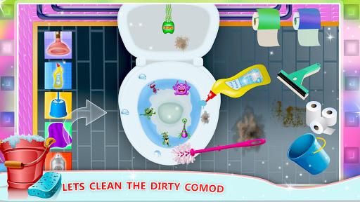 Elsa Home Cleaning Gamesu2013 Garage Dust Clean Up- apktram screenshots 8