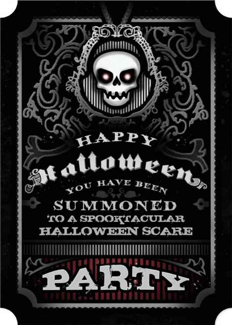 HALLOWEEN INVITATIONS Scary Halloween Party Invitation Evil Skull – Scary Party Invitations