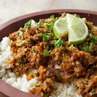 Cauliflower Rice With Indian Spiced Salsa.