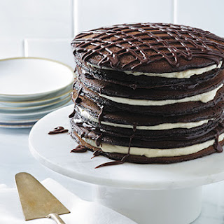 Black-and-White Pancake Cake