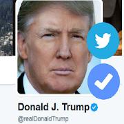 Donuld J Trump twitter follow