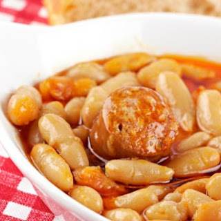 Weight Watchers Baked Beans with Chicken Sausage