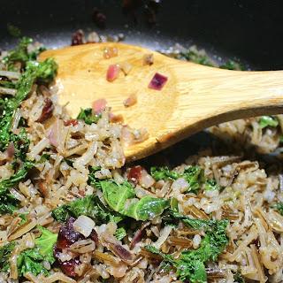 Lake-Harvested Wild Rice, Cranberry, & Kale Pilaf.