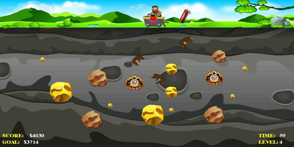 gold miner 1 player