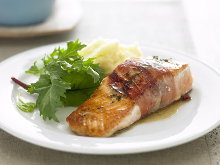 Pan Fried Salmon with Prosciutto and Thyme Recipe | Yummly