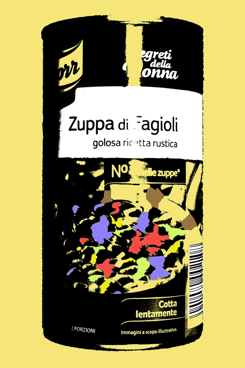 """Zuppa di fagioli - Andy Warhol's """"Campbell's Soup Cans"""" painting di FrancescoPaolo"""