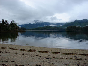 Photo: View toward the dock from my campsite in Hobart Bay.