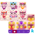 Cute Owls Emoji Keyboard Theme 6.0 Apk