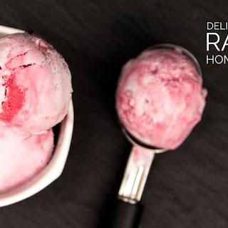 Vegan Raspberry Ripple Ice Cream.