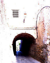 Photo: Old citadel walls, arches, and gates in Kasbah, Tangier.