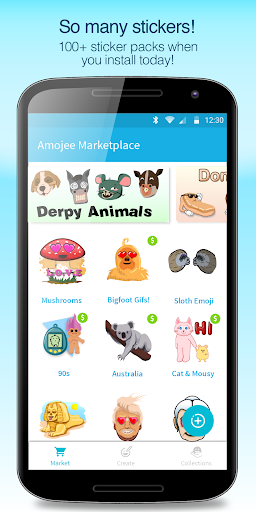 Amojee Marketplace - Emoji Sticker & GIF Market screenshot