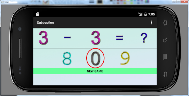 Educational subtraction game - náhled
