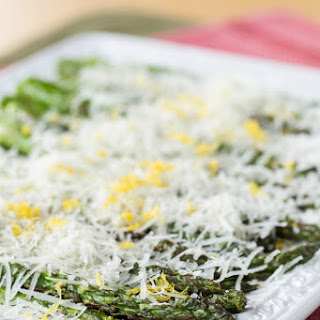 Grilled Asparagus with Lemon and Manchego Cheese
