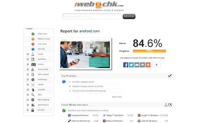 SEO audit by iwebchk