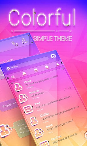 (FREE) GO SMS COLORFUL THEME|玩通訊App免費|玩APPs