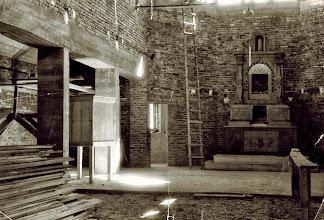 Photo: Budowa kościoła w Rogoźniku 1960 r..