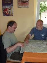 Photo: Letzte planung für die Tour von Klaus und Branko
