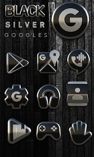 Black Silver Icon Pack Screenshot
