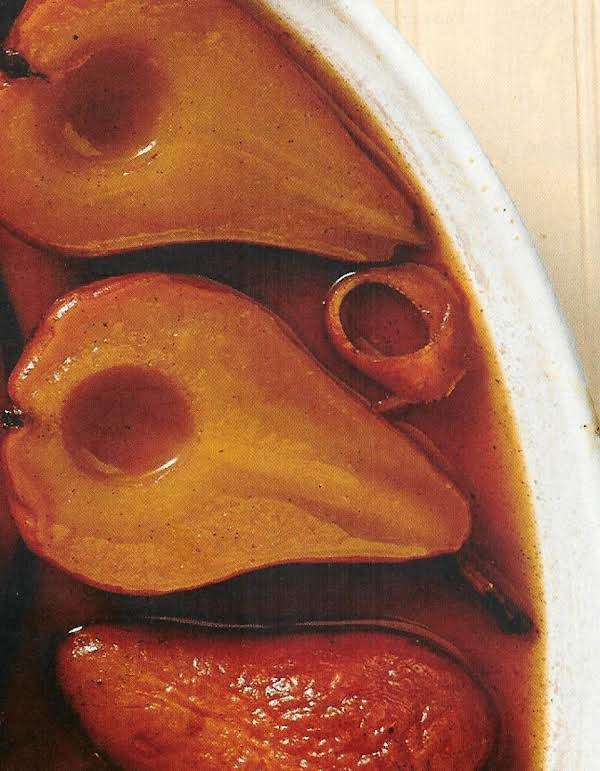 Baked Pears With Marsala-honey Syrup Recipe