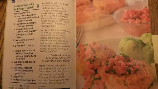 Salmon Cakes With Red Pepper Relish Recipe