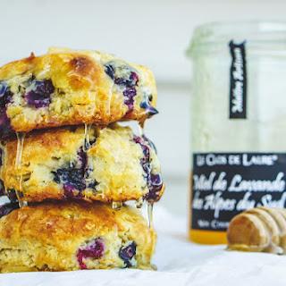 Blueberry Cardamom Biscuits & Lavender Honey Recipe