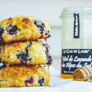 Blueberry Cardamom Biscuits & Lavender Honey.