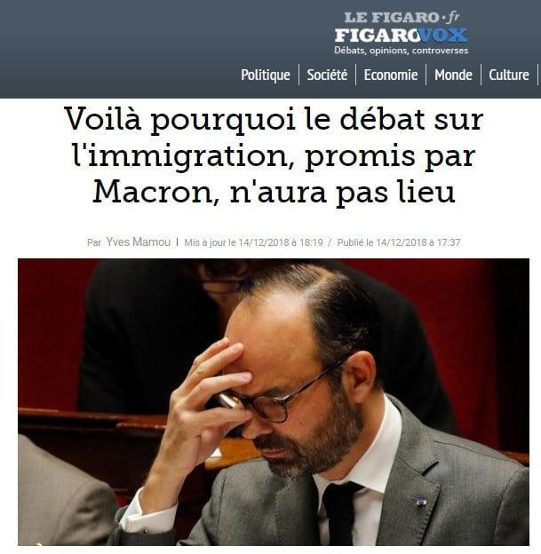 Edouard Philippe - immigration - Macron - Figaro