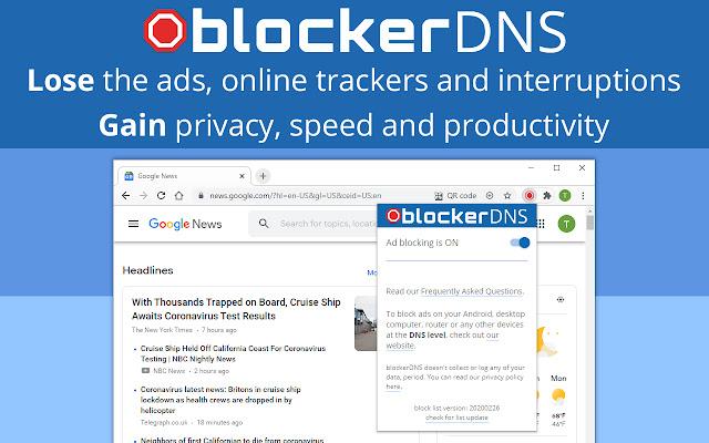 blockerDNS Ad & Tracker Blocking