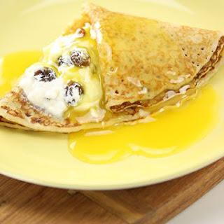 Crepes Ricotta & Orange Honey Sauce