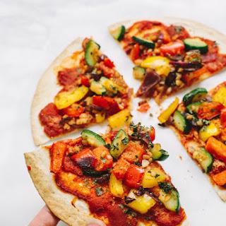 Vegan Tortilla Vegetable Pizza