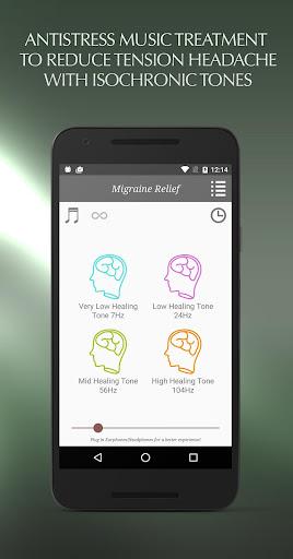 片頭痛の救済の音楽