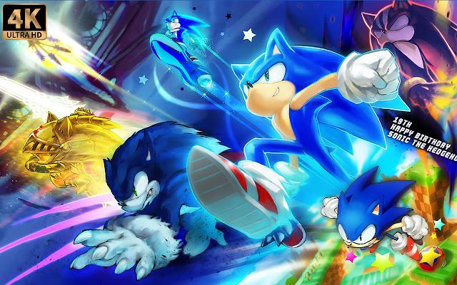 Sonic Wallpaper New Tab