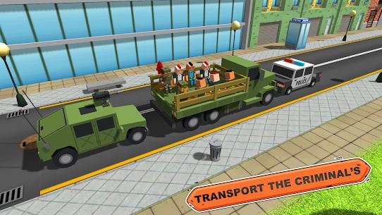 Blocky Vegas Crime Simulator:Prisoner Survival Bus 7