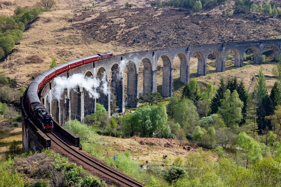 Szkocja, pociąg ScotRail, Harry Potter