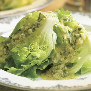 Boston Lettuce Wedges with Mimosa Vinaigrette