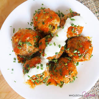 Buffalo Turkey Meatballs (Gluten-free, Low Carb).