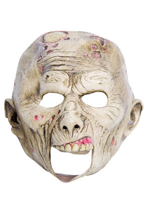 Barnmask, zombie med öppen mun