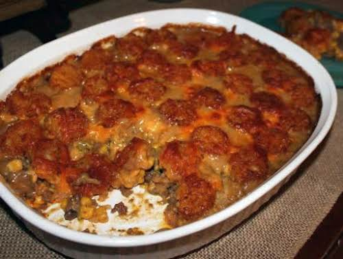 """Colorado Cowboy Casserole""""We just finished enjoying this. Hubby stated """"oh this is..."""