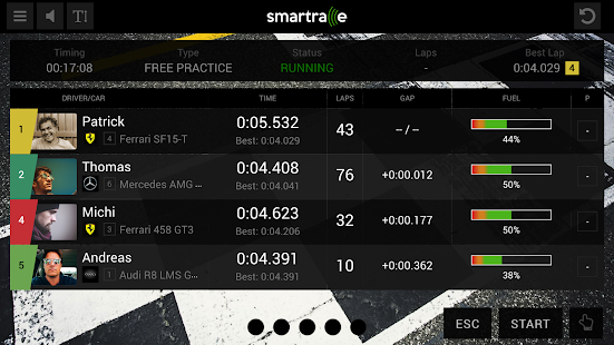 SmartRace - Carrera Race App – Miniaturansicht des Screenshots