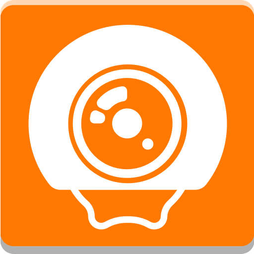 Orange Live Cam Icon
