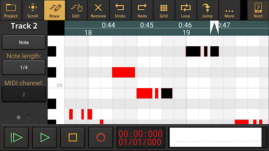 Audio Evolution Mobile Studio Capture d'écran