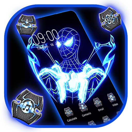 Fluorescence Glowing Spider Hero Theme 2019