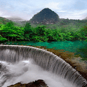 Green Land Waterfall LWP icon