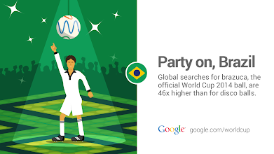 Photo: Having a ball in Brazil with @brazuca #WorldCup #GoogleTrends