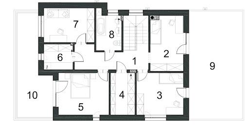 Gustowny D39 wariant II - Rzut piętra