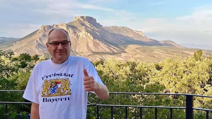 Imagen de Roth compartida por Sánchez Teruel para despedirse de él.
