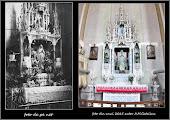 Photo: Biserica Romano Catolica - Imagini comparative -  altarul Sf Maria de pe net si foto A.M.Catalina din anul 2015  difera statuia de la nivelul superior al altarului