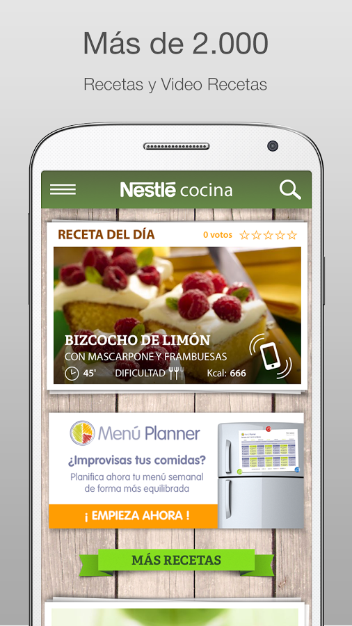 Nestlé Cocina. Recetas y Menús- screenshot