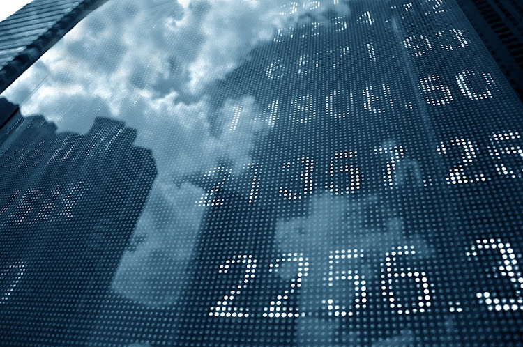 An electronic display board shows stock market quotes. Picture: 123RF