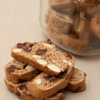 Low-Calorie Chocolate Almond Biscotti